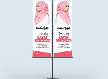 Double Stand Banner (Naelofa Hijab)